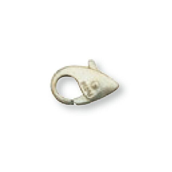 【1個売り】 留め具 PT850 プラチナ 小フック 縦8.0mm 横5.5mm カニカン カニ環 クラスプ|手芸用品 金具 飾り パーツ 部品 850pt 貴金属