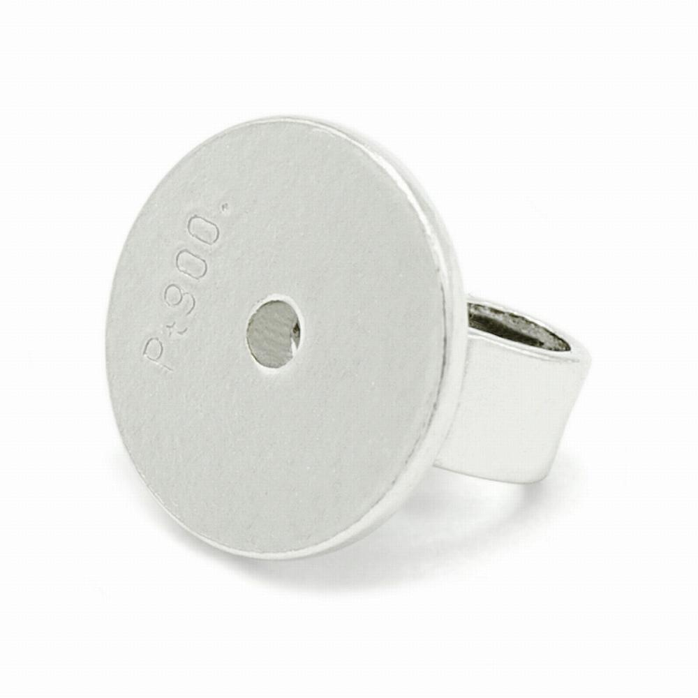 【1個売り】 ピアスキャッチ PT900 プラチナ シンプルキャッチ 丸型大 軸径0.9mm用 ピアスロック|900pt 貴金属 ジュエリー レディース メンズ