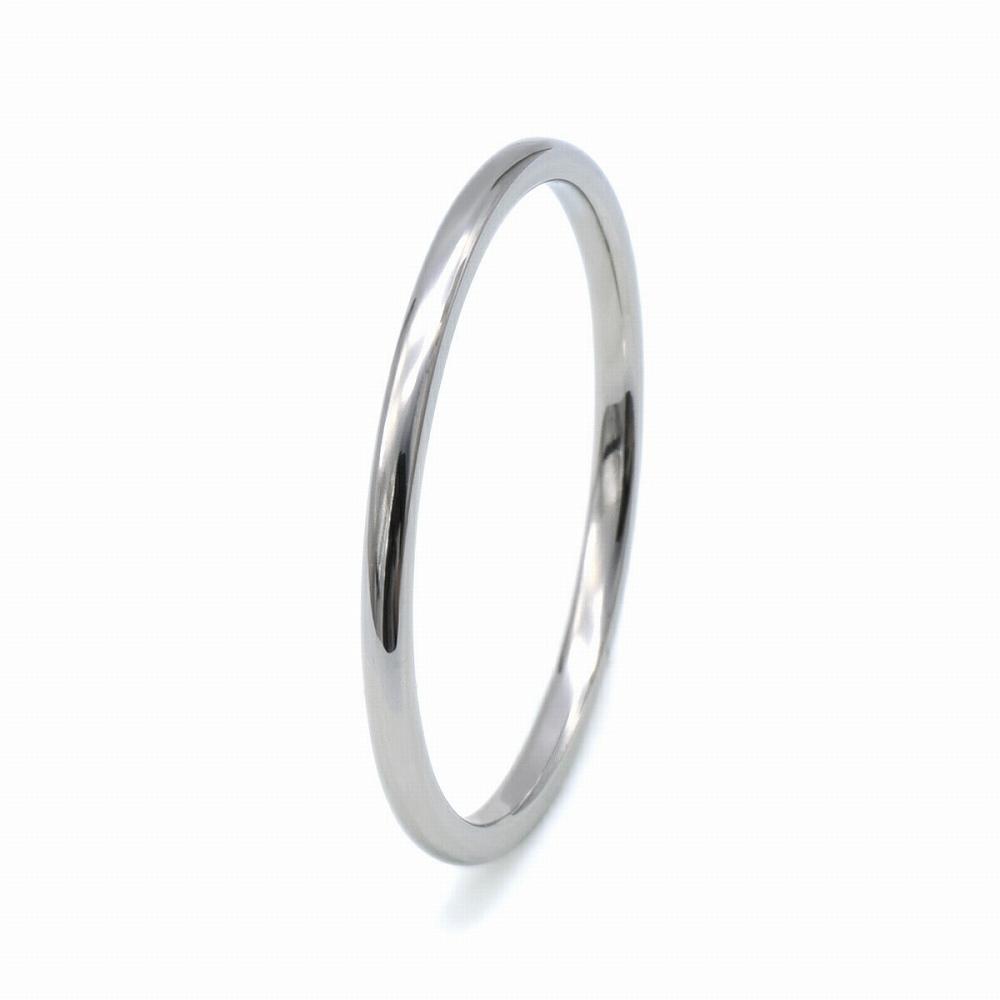 指輪 PT900 プラチナ 甲丸リング 幅1.0mm ピンキーリングもございます 地金リング|900pt 貴金属 ジュエリー レディース メンズ