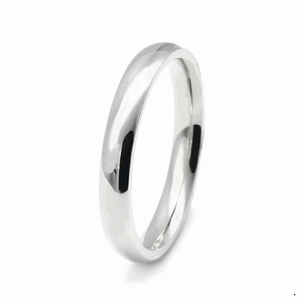 指輪 PT900 プラチナ 甲丸リング 幅3.0mm ピンキーリングもございます 地金リング|900pt 貴金属 ジュエリー レディース メンズ