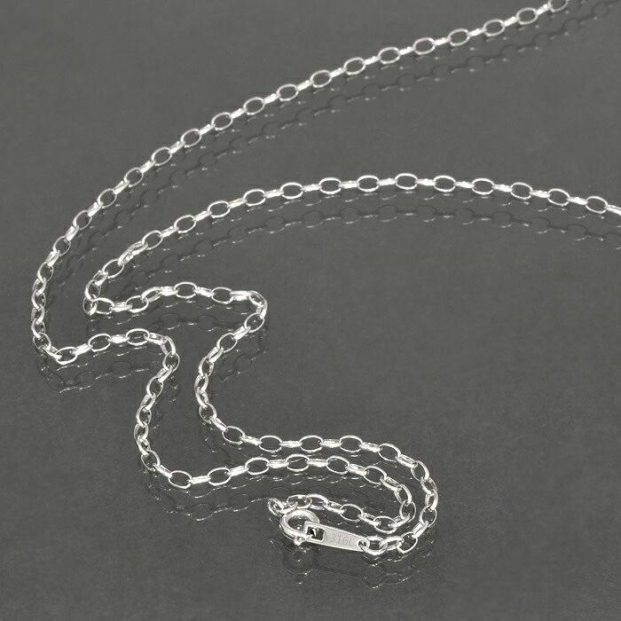 金属アレルギーに強い医療用ステンレス製ネックレス ネックレス チェーン サージカルステンレス 316L ふんわりロールチェーン 幅2.65mm 長さ38cm|鎖 ステンレス アクセサリー レディース メンズ