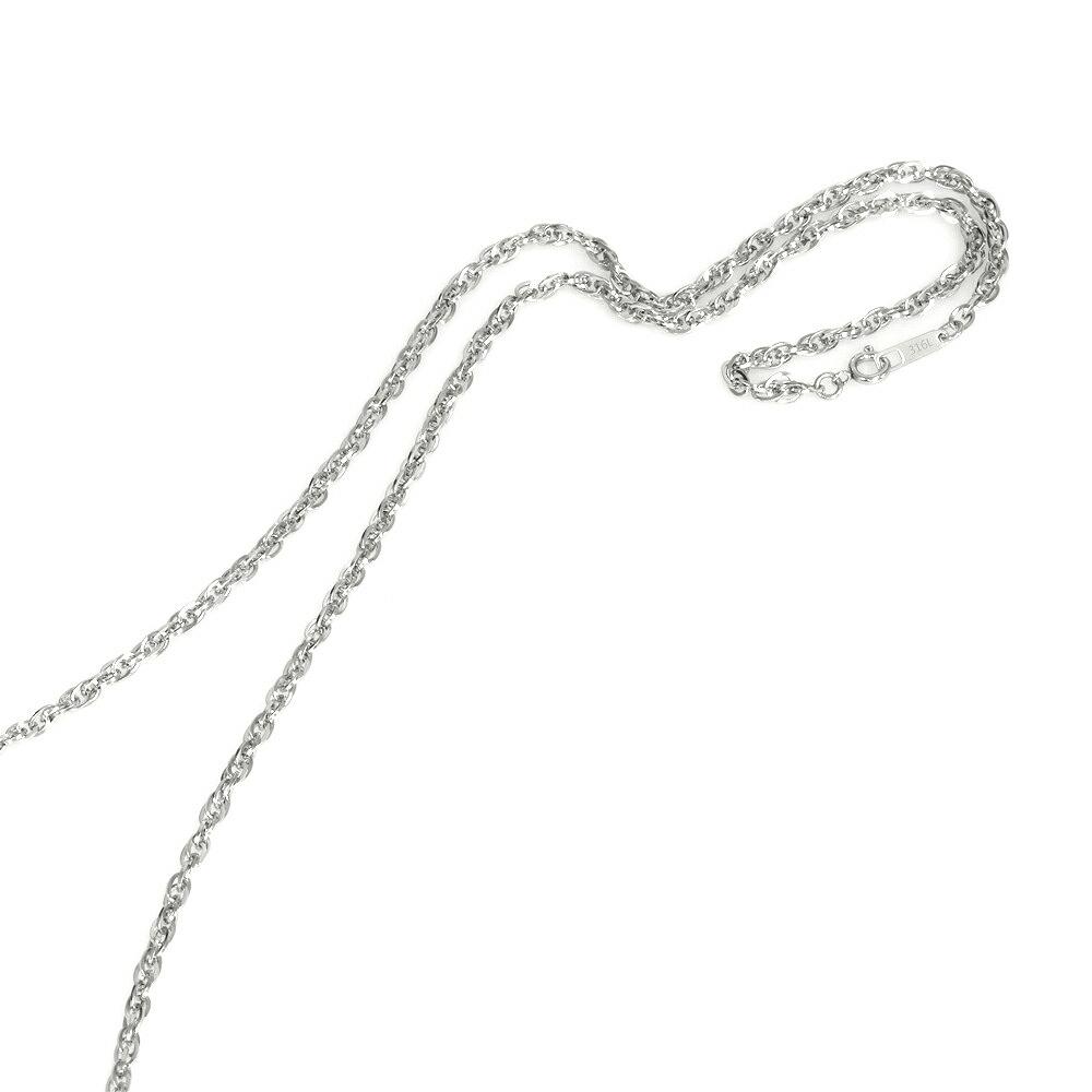 金属アレルギーに強い医療用ステンレス製ネックレス ネックレス チェーン サージカルステンレス 316L 角ルーズロープチェーン スーパーセール期間限定 幅2.8mm メンズ ステンレス アクセサリー 鎖 長さ38cm メーカー直売 レディース