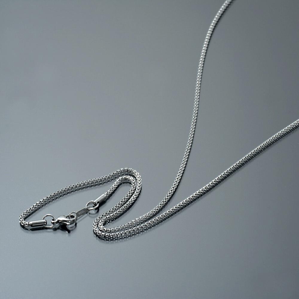 金属アレルギーに強い医療用ステンレス製ネックレス ネックレス チェーン 新色追加 サージカルステンレス 316L ダブルベネチアンチェーン 幅2.0mm メンズ 鎖 アクセサリー ステンレス レディース 長さ38cm 代引き不可