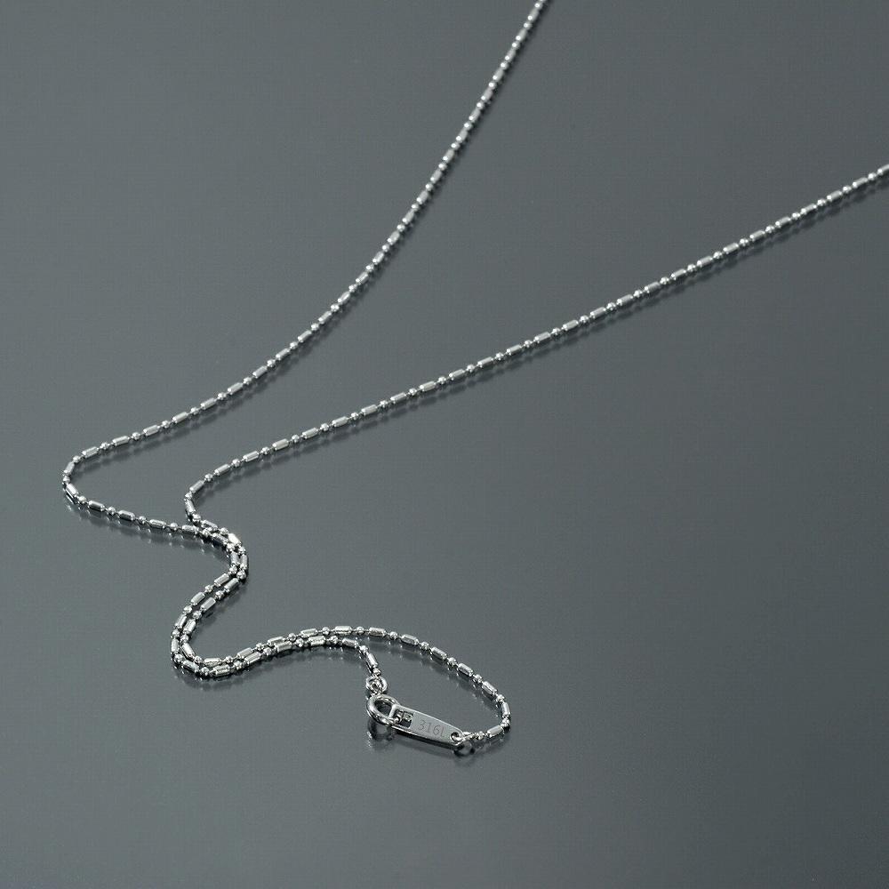 金属アレルギーに強い医療用ステンレス製ネックレス ネックレス チェーン サージカルステンレス 316L カット変形ボールBRチェーン 幅1.2mm 長さ38cm 鎖 ステンレス アクセサリー レディース メンズ