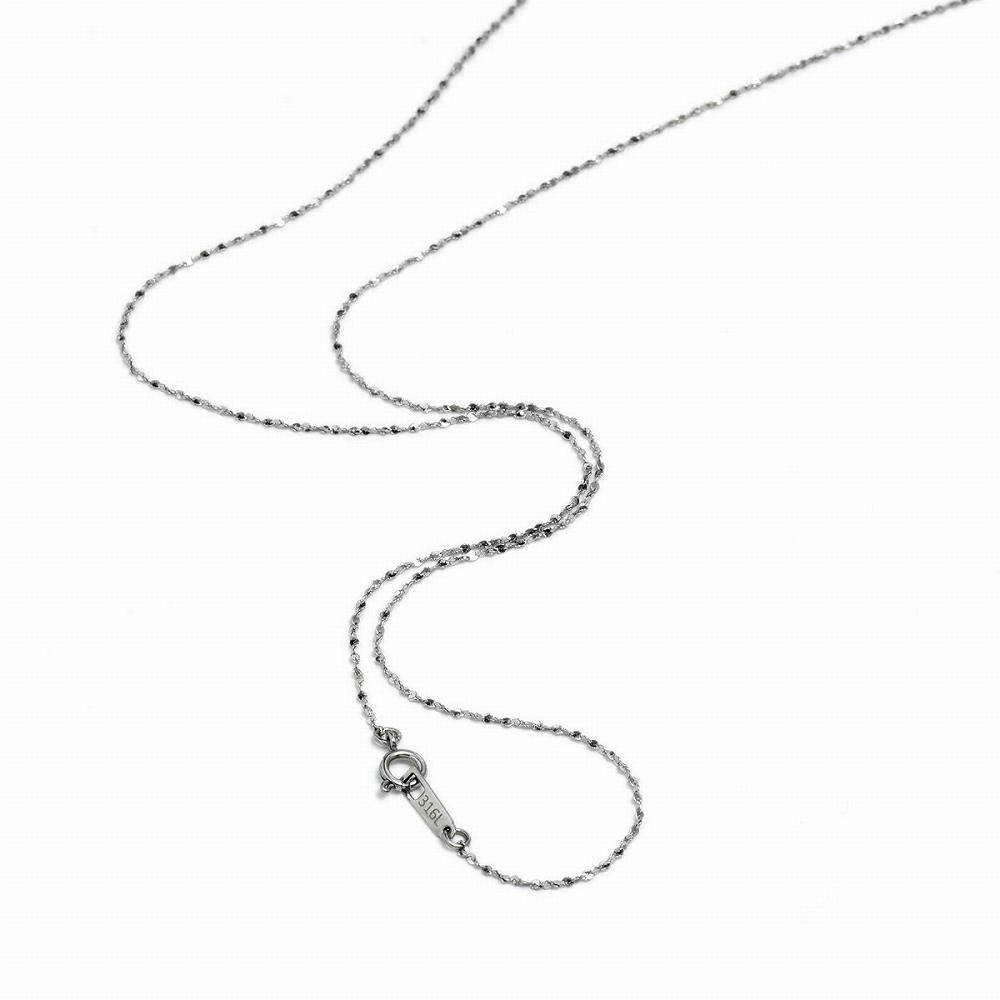初売り 金属アレルギーに強い医療用ステンレス製ネックレス 期間限定特価品 ネックレス チェーン サージカルステンレス 316L S字ツイストチェーン 幅1.2mm 長さ38cm メンズ ステンレス レディース アクセサリー 鎖