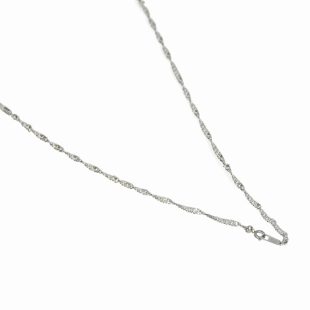 セール 特集 金属アレルギーに強い医療用ステンレス製ネックレス ネックレス チェーン サージカルステンレス 316L スクリューチェーン 幅2.6mm 直営ストア 鎖 ステンレス 長さ38cm メンズ アクセサリー レディース