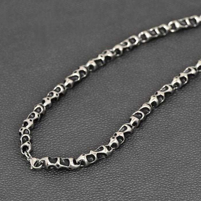 ネックレス サージカルステンレス 骨の様な凹凸デザインがハードなデザインネックレス|手芸用品 金具 飾り パーツ 部品 医療用ステンレス レディース メンズ