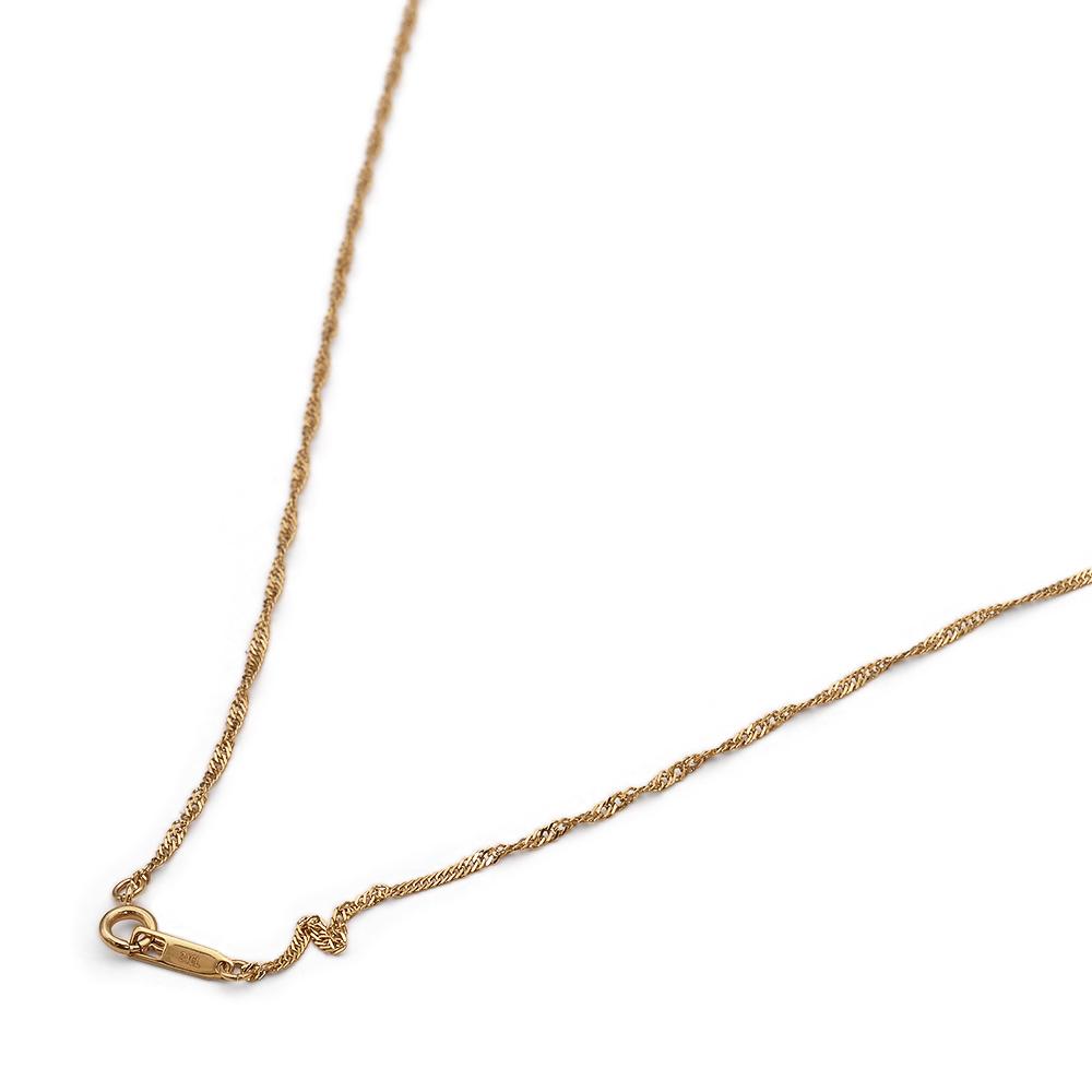 金属アレルギーに強い医療用ステンレス製ネックレス ネックレス チェーン サージカルステンレス 316L 金色 スクリューチェーン 幅1.5mm ステンレス 鎖 レディース メンズ 大人気 長さ38cm 店内全品対象 アクセサリー