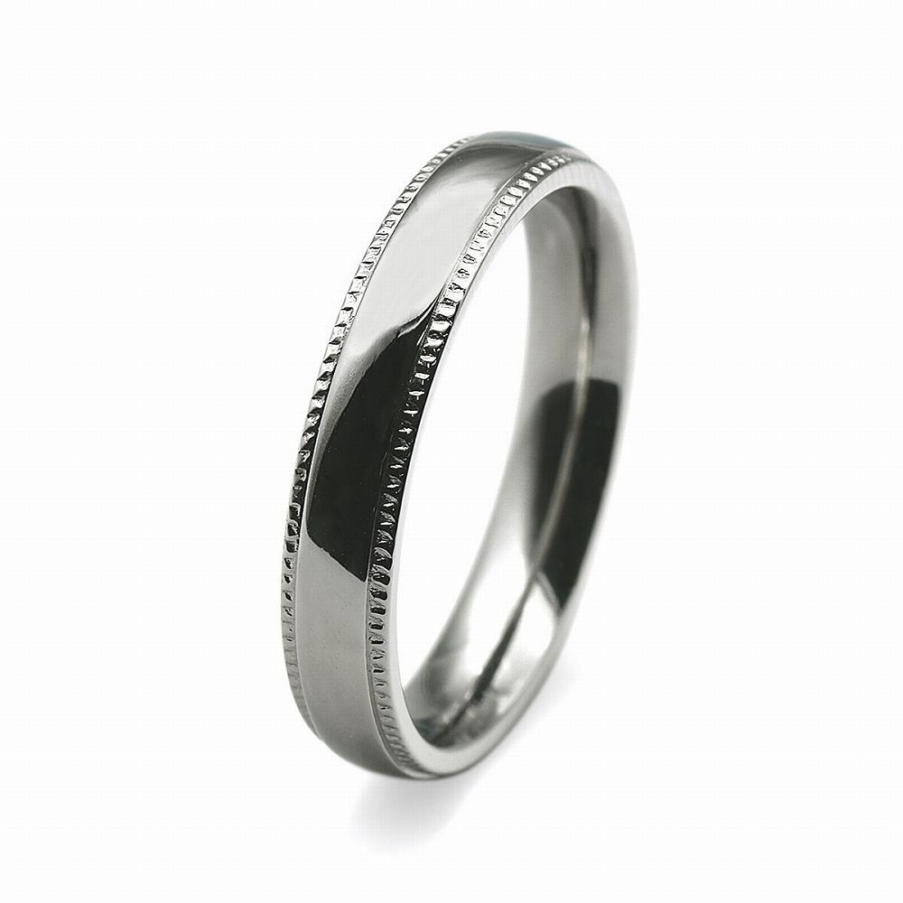 金属アレルギーに強い 医療用ステンレス製の指輪 超特価SALE開催 指輪 サージカルステンレス 両サイドギザギザデザインの甲丸リング 幅4.0mm アクセサリー バーゲンセール レディース 医療用ステンレス シルバー メンズ 銀色