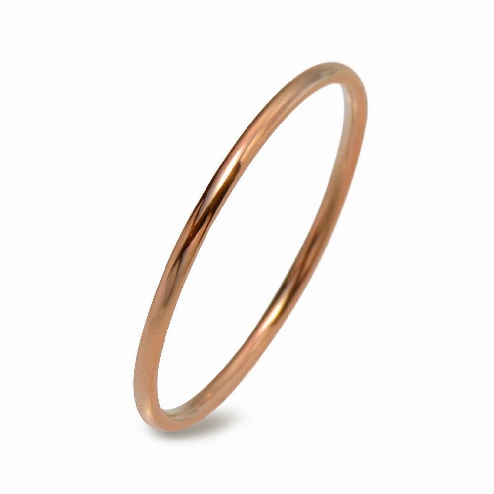 金属アレルギーに強い 医療用ステンレス製の指輪 送料無料激安祭 指輪 サージカルステンレス 気質アップ シンプルな甲丸リング 幅1.0mm メンズ ピンクゴールド 医療用ステンレス アクセサリー レディース