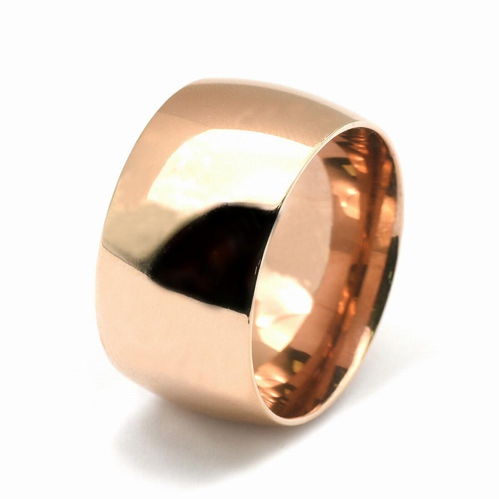 金属アレルギーに強い 医療用ステンレス製の指輪 指輪 サージカルステンレス 爆売り シンプルな甲丸リング 幅12.0mm ピンクゴールド アクセサリー メンズ ディスカウント 医療用ステンレス レディース