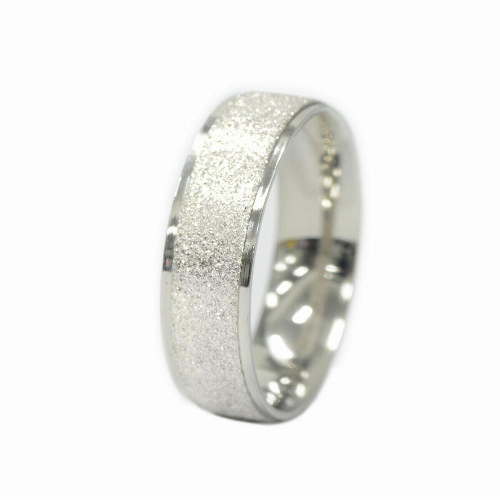 金属アレルギーに強い 医療用ステンレス製の指輪 指輪 サージカルステンレス センターラインラメコーティングの段付きリング 幅6.0mm シルバー 定番から日本未入荷 銀色 アクセサリー レディース メンズ 医療用ステンレス 売買
