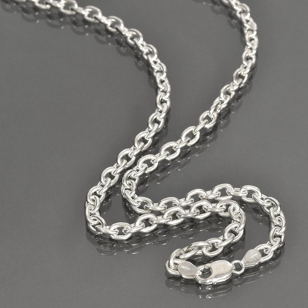 ネックレス チェーン シルバー925 小豆チェーン 幅7.1mm 長さ40cm|鎖 銀 Silver アクセサリー メンズ