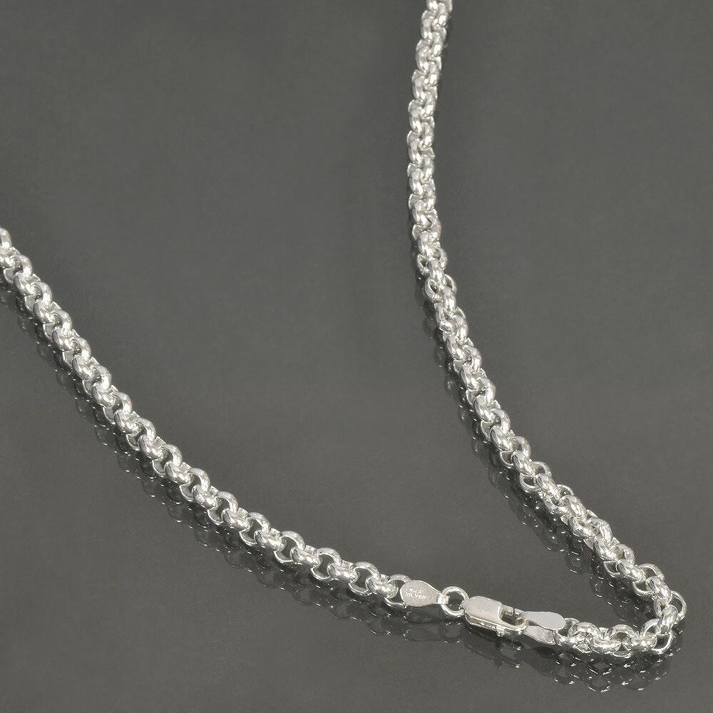 ネックレス チェーン シルバー925 ロールチェーン 幅5.5mm 長さ40cm 鎖 銀 Silver アクセサリー メンズ