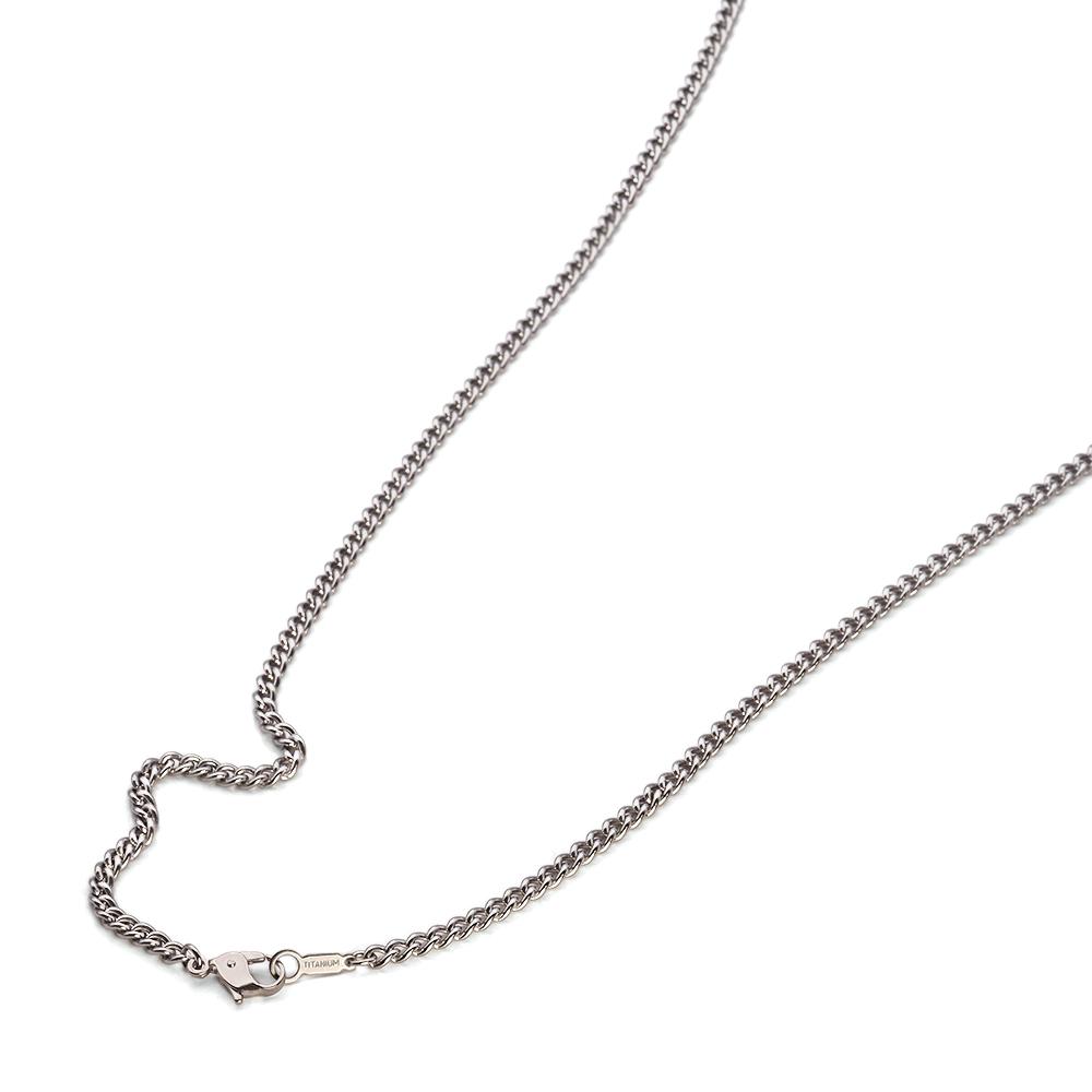 IP仕上げ!軽い&金属アレルギーに強い純チタンネックレス ネックレス チェーン 明るい色の純チタン カット無し喜平チェーン 幅3.4mm 長さ38cm|鎖 チタン アクセサリー レディース メンズ