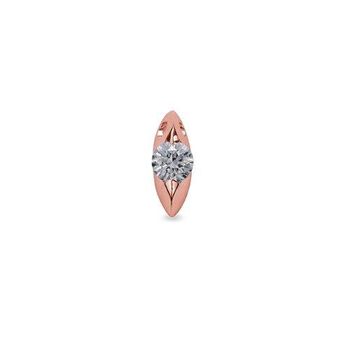 ペンダントトップ 18金 ピンクゴールド 天然石 マーキス型石座の一粒ペンダント 主石の直径約4.4mm 二本爪留め ペンダントヘッドのみ|K18PG 18k 貴金属 ジュエリー レディース メンズ