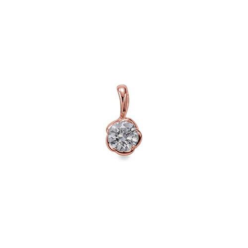 ペンダントトップ 18金 ピンクゴールド 天然石 花モチーフの一粒ペンダント 主石の直径約4.4mm ペンダントヘッドのみ|K18PG 18k 貴金属 ジュエリー レディース メンズ