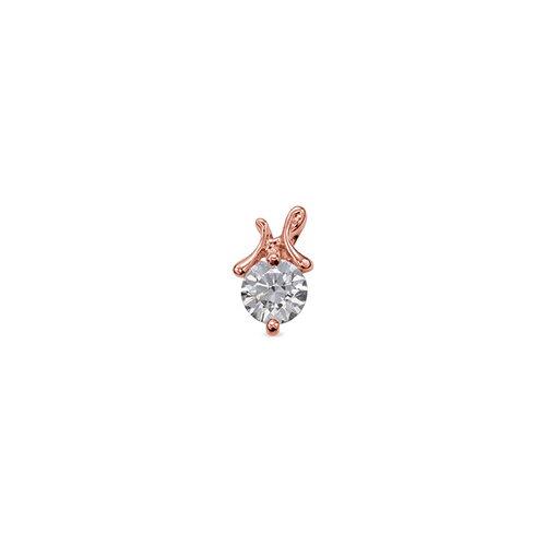 ペンダントトップ 18金 ピンクゴールド 天然石 H イニシャルモチーフの一粒ペンダント 主石の直径約4.4mm ペンダントヘッドのみ|K18PG 18k 貴金属 ジュエリー レディース メンズ