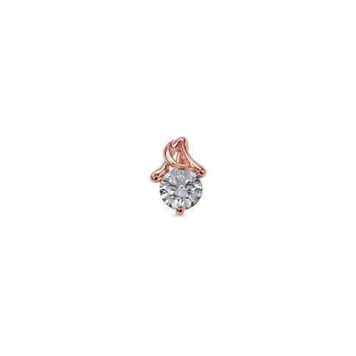 ペンダントトップ 18金 ピンクゴールド 天然石 A イニシャルモチーフの一粒ペンダント 主石の直径約3.8mm ペンダントヘッドのみ|K18PG 18k 貴金属 ジュエリー レディース メンズ