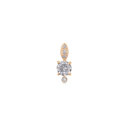 主石の種類が選べる 高級感が漂う18金と天然石のペンダントトップ ペンダントトップ 18金 ピンクゴールド 天然石 メレ周りミル打ちペンダント 主石の直径約5.2mm 四本爪留め レディース 開店祝い ジュエリー ペンダントヘッドのみ K18PG 18k 貴金属 セール メンズ