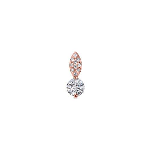 ペンダントトップ 18金 ピンクゴールド 天然石 パヴェバチカンの一粒ペンダント 主石の直径約5.2mm 二本爪留め ペンダントヘッドのみ|K18PG 18k 貴金属 ジュエリー レディース メンズ