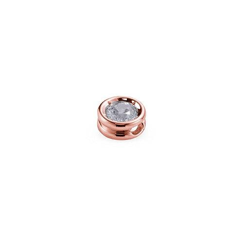 ペンダントトップ 18金 ピンクゴールド 天然石 一粒スルーペンダント 主石の直径約4.4mm ちょこ留め ペンダントヘッドのみ|K18PG 18k 貴金属 ジュエリー レディース メンズ