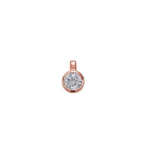 ペンダントトップ 18金 ピンクゴールド 天然石 一粒ペンダント 主石の直径約3.8mm 二段腰 伏せ込み ペンダントヘッドのみ|K18PG 18k 貴金属 ジュエリー レディース メンズ