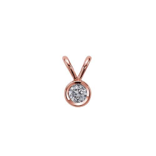 ペンダントトップ 18金 ピンクゴールド 天然石 一粒ペンダント 主石の直径約5.2mm ダブルバチカン ちょこ留め ペンダントヘッドのみ|K18PG 18k 貴金属 ジュエリー レディース メンズ