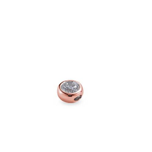 ペンダントトップ 18金 ピンクゴールド 天然石 一粒スルーペンダント 主石の直径約3.8mm 伏せ込み ペンダントヘッドのみ|K18PG 18k 貴金属 ジュエリー レディース メンズ