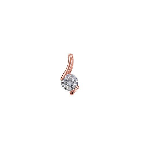 ペンダントトップ 18金 ピンクゴールド 天然石 ウェーブラインの一粒ペンダント 主石の直径約4.4mm レール留め ペンダントヘッドのみ|K18PG 18k 貴金属 ジュエリー レディース メンズ