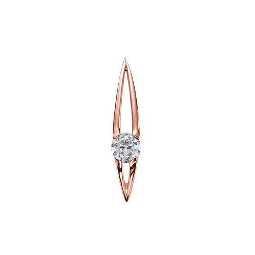 ペンダントトップ 18金 ピンクゴールド 天然石 マーキス型の一粒ペンダント 主石の直径約4.4mm ペンダントヘッドのみ|K18PG 18k 貴金属 ジュエリー レディース メンズ