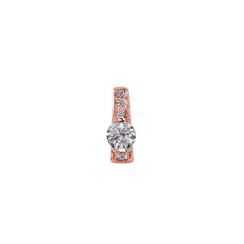 ペンダントトップ 18金 ピンクゴールド 天然石 メレがラインになった一粒ペンダント 主石の直径約4.4mm レール留め ペンダントヘッドのみ|K18PG 18k 貴金属 ジュエリー レディース メンズ