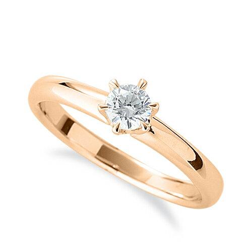 指輪 18金 ピンクゴールド 天然石 一粒リング 主石の直径約4.4mm ソリティア 六本爪留め|K18PG 18k 貴金属 ジュエリー レディース メンズ