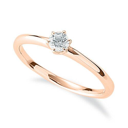 指輪 18金 ピンクゴールド 天然石 一粒リング 主石の直径約3.4mm ソリティア 六本爪留め|K18PG 18k 貴金属 ジュエリー レディース メンズ