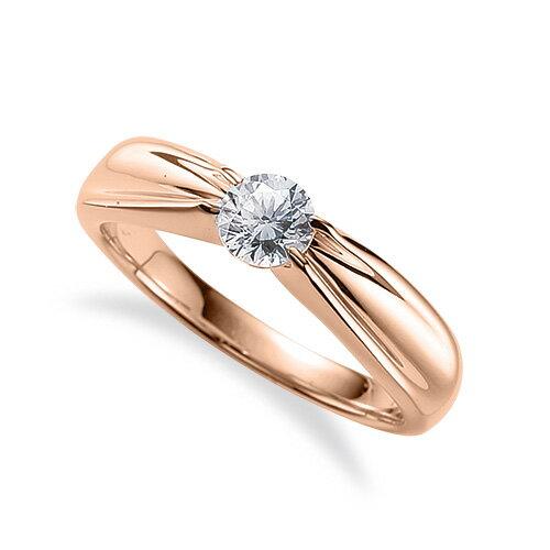 指輪 18金 ピンクゴールド 天然石 一粒リング 主石の直径約5.2mm ソリティア 四本爪留め|K18PG 18k 貴金属 ジュエリー レディース メンズ