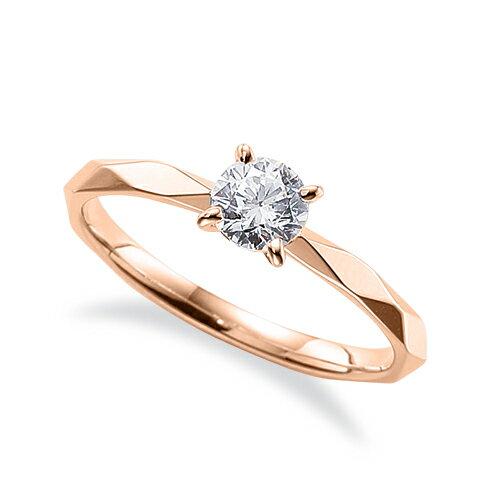 指輪 18金 ピンクゴールド 天然石 アーガイルカットの一粒リング 主石の直径約4.4mm ソリティア 四本爪留め|K18PG 18k 貴金属 ジュエリー レディース メンズ