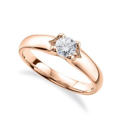 指輪 18金 ピンクゴールド 天然石 一粒リング 主石の直径約4.4mm ソリティア 四本爪留め|K18PG 18k 貴金属 ジュエリー レディース メンズ