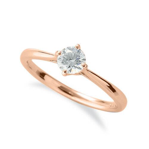 指輪 18金 ピンクゴールド 天然石 一粒リング 主石の直径約4.4mm ソリティア しぼり腕 四本爪留め K18PG 18k 貴金属 ジュエリー レディース メンズ
