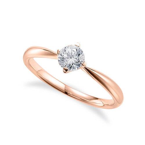 指輪 18金 ピンクゴールド 天然石 一粒リング 主石の直径約4.4mm ソリティア しぼり腕 四本爪留め|K18PG 18k 貴金属 ジュエリー レディース メンズ