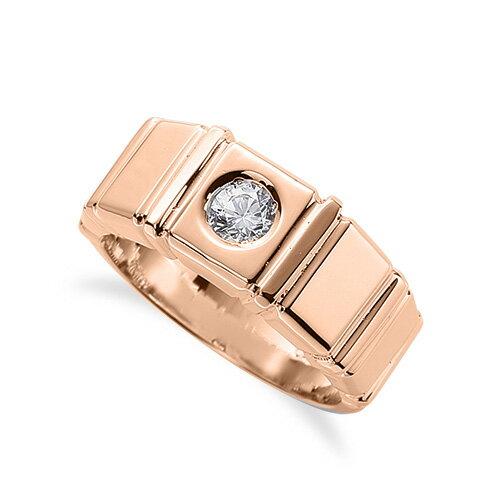 指輪 18金 ピンクゴールド 天然石 一粒リング 主石の直径約3.8mm ソリティア|K18PG 18k 貴金属 ジュエリー レディース メンズ