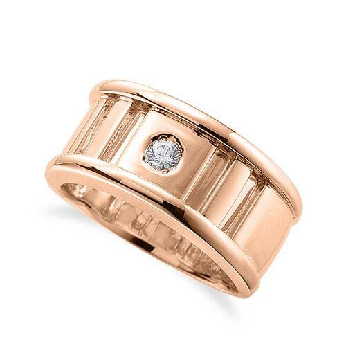 指輪 18金 ピンクゴールド 天然石 一粒リング 主石の直径約3.0mm ソリティア|K18PG 18k 貴金属 ジュエリー レディース メンズ