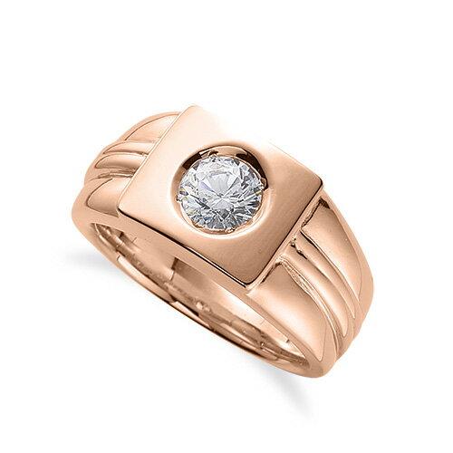 指輪 18金 ピンクゴールド 天然石 一粒リング 主石の直径約5.2mm ソリティア|K18PG 18k 貴金属 ジュエリー レディース メンズ