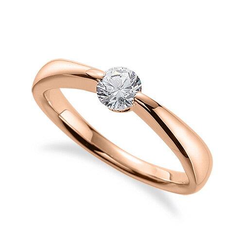 指輪 18金 ピンクゴールド 天然石 一粒リング 主石の直径約5.2mm ソリティア しぼり腕 二本爪留め|K18PG 18k 貴金属 ジュエリー レディース メンズ
