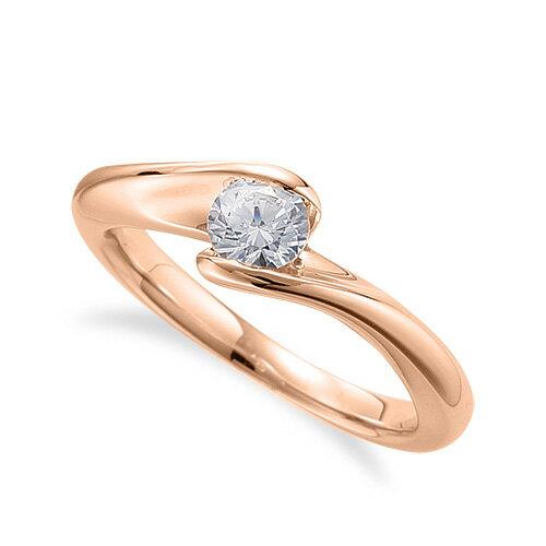 指輪 18金 ピンクゴールド 天然石 一粒リング 主石の直径約4.4mm ソリティア 抱き合わせ腕 レール留め|K18PG 18k 貴金属 ジュエリー レディース メンズ