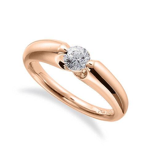 指輪 18金 ピンクゴールド 天然石 一粒リング 主石の直径約4.4mm ソリティア 二本爪留め|K18PG 18k 貴金属 ジュエリー レディース メンズ