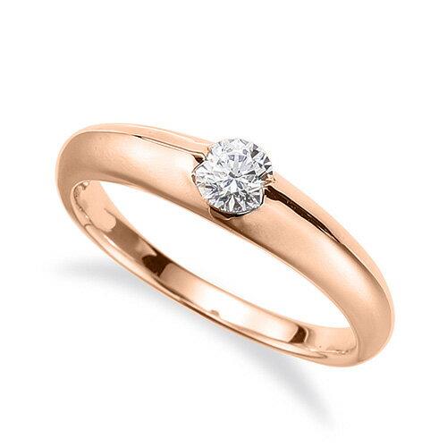 指輪 18金 ピンクゴールド 天然石 一粒リング 主石の直径約4.4mm ソリティア|K18PG 18k 貴金属 ジュエリー レディース メンズ