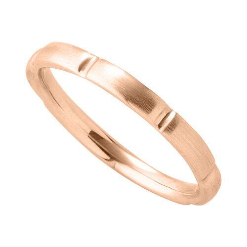 指輪 18金 ピンクゴールド シンプルモダンなデザインリング 幅2.3mm K18PG 18k 貴金属 ジュエリー レディース メンズ