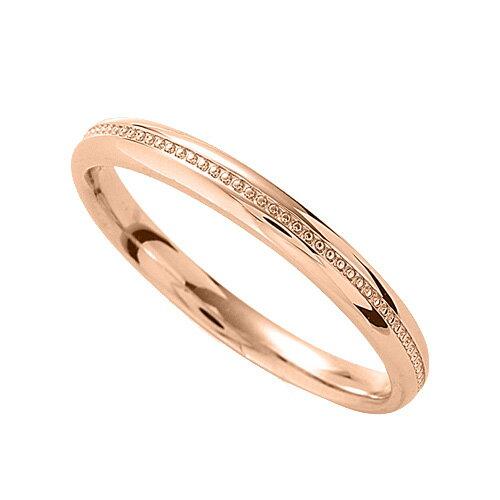 指輪 18金 ピンクゴールド 上品なミル打ちラインリング 幅2.7mm|K18PG 18k 貴金属 ジュエリー レディース メンズ
