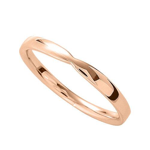 指輪 18金 ピンクゴールド シンプルモダンなデザインリング 幅2.5mm|K18PG 18k 貴金属 ジュエリー レディース メンズ