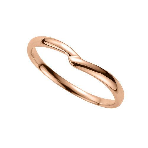 指輪 18金 ピンクゴールド シンプルモダンなV字リング 幅2.4mm|K18PG 18k 貴金属 ジュエリー レディース メンズ